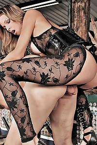 Shemale mistress dominates a man
