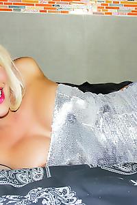 Blonde Blue Eyed shemale