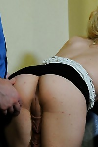 Beautiful tgirl Chrissy Snow seducing a guy