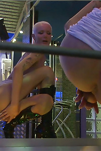The VERY Sexy transgirl Blondie Johnson washes her shecock and plays with it