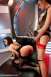 Venus Lux and Gia DiMarco at space port