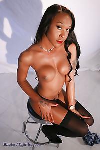 Black fine Kayla posing