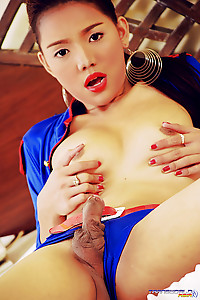The most beautiful Asian Girl has a hard throbing cock