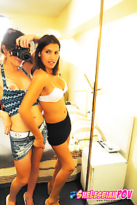 Horny Shemale Lesbians in Oral Action