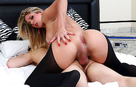 Nicole Bahls fucks a man with her huge cock