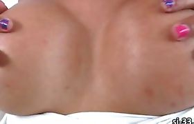 Horny latina tgirl Sunshyne Monroe jerks