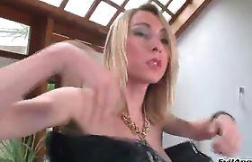 Sabrina Sherman Getting a Fishnet Blowjob