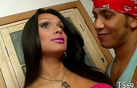 Hot tranny girl gets seduced