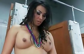 Putting Ts Vaniity's Cock In mouth