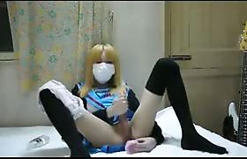 Japanese crossdresser jerk