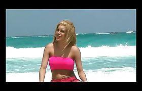 SheGoddess TS Karla on beach