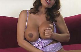 Busty milf banged by sexy tranny Tiffany after sucking off