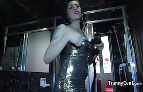 Latina tranny fucking for cash