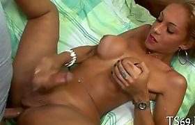 Tranny enjoys ass-fucking scene