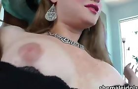 Tgirls Jane Marie and Tiffany Starr having cock sucking session