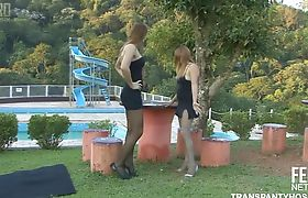 Evelyn and Vivi In Public