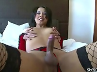 Asian shemale in G String