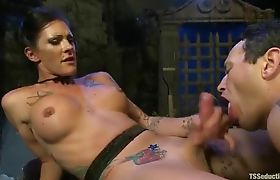 Shemale Morgan Bailey fucks in a Cemetery Part 07