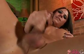 Horny Ashley George playing with her juicy hard cock