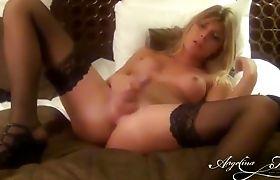 Super hot TS Angelina touching herself