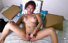 Naked and Stroking Sapphire Young