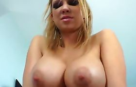 A ladyPressing her boobs in sex mood