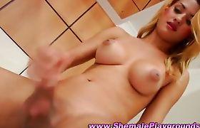 Sexy trannys solo cumshot