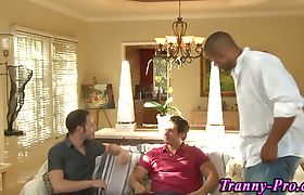 Tranny interracial facial