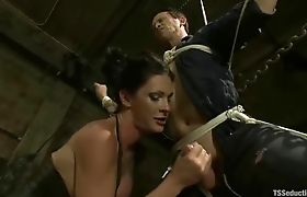 Shemale Morgan Bailey fucks in a Cemetery Part 09