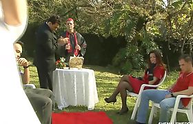 Shemale Wedding Outside in the Park Part 01