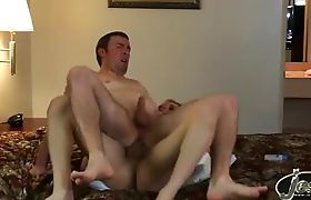 Horny fan riding Jesse's big fat hard cock