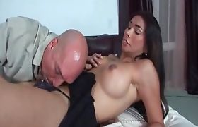 Shemale Vaniity gets rimmed and sucked