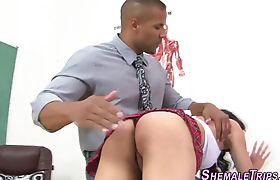 Ladyboy bareback fucked