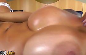 Big tit tranny toys ass