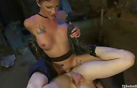 Shemale Morgan Bailey fucks in a Cemetery Part 06