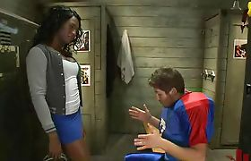 Black tranny fucks football player
