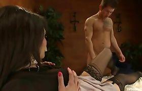 Eva Lin is back seducing an intern