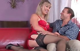 Lora Hoffman getting Chris Dano frisky