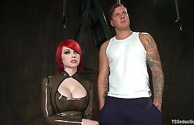 Sarina takes Parker to a secret dungeon, fucks him Part 12