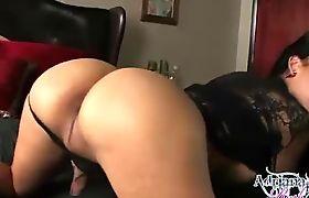 Lovely Adriana spreads her legs