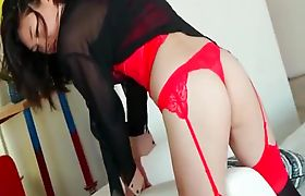 Sweet Asian Tgirl spreads her ass