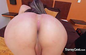 Pink panties tranny fuck black cock