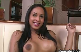 Latina tranny Amanda Close in sinful pleasure and masturbation