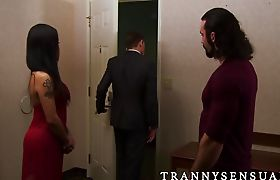 Glorious TS Foxxy banged by a big muscle guy Jaxton Wheeler