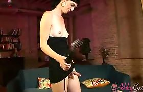 Sweet TS Ashley George sucking on Mandy's cock