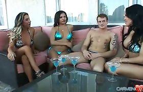 Carmen & the girls expose their secret to the pool boy