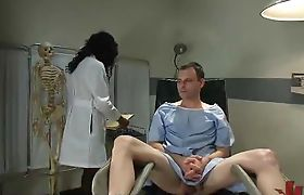 Doctor tranny checks ass of white guy