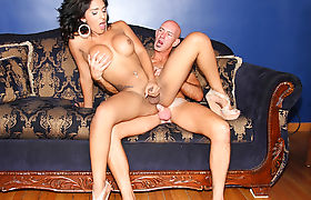 Busty Tgirl Jane Marie Takes A Rough Dicking