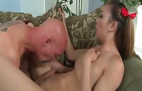 Shemale Venus Lux 69ing on the couch