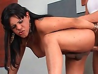 Chunky tgirl fucks dude in the ass Part 04